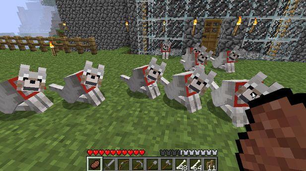 オオカミ マイン クラフト